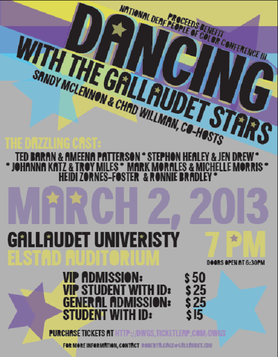 Dancing with Gallaudet Stars – March 2, 2013