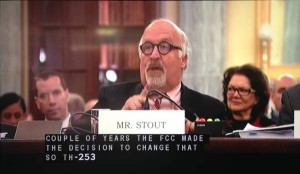 Claude Stout, the Executive Director of Telecommunications for the Deaf and Hard of Hearing, spoke today at a meeting of the Senate Committee on Commerce, Science, and Transportation in its Communications