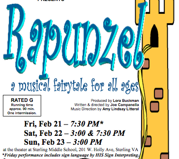 Sterling Playmakers Presents Rapunzel, Interpreted Feb. 21