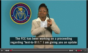 Click to goto FCC ASL captioned Video