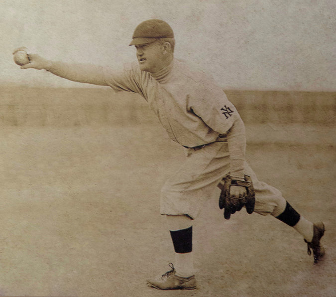 From Kansas to Giants, a Pioneer's Trail of Wins and Wit; Deaf BB Player
