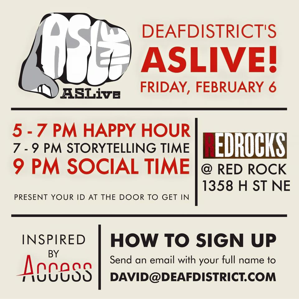 TONIGHT- DEAFDIDTRICT'S ASLIVE!  FRIDAY, FEB 6
