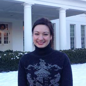 White House staffer Leah Katz-Hernandez is a pioneer on the reception desk
