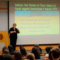 Mother of advocacy services in deaf community talks to Univ. Cincinnati