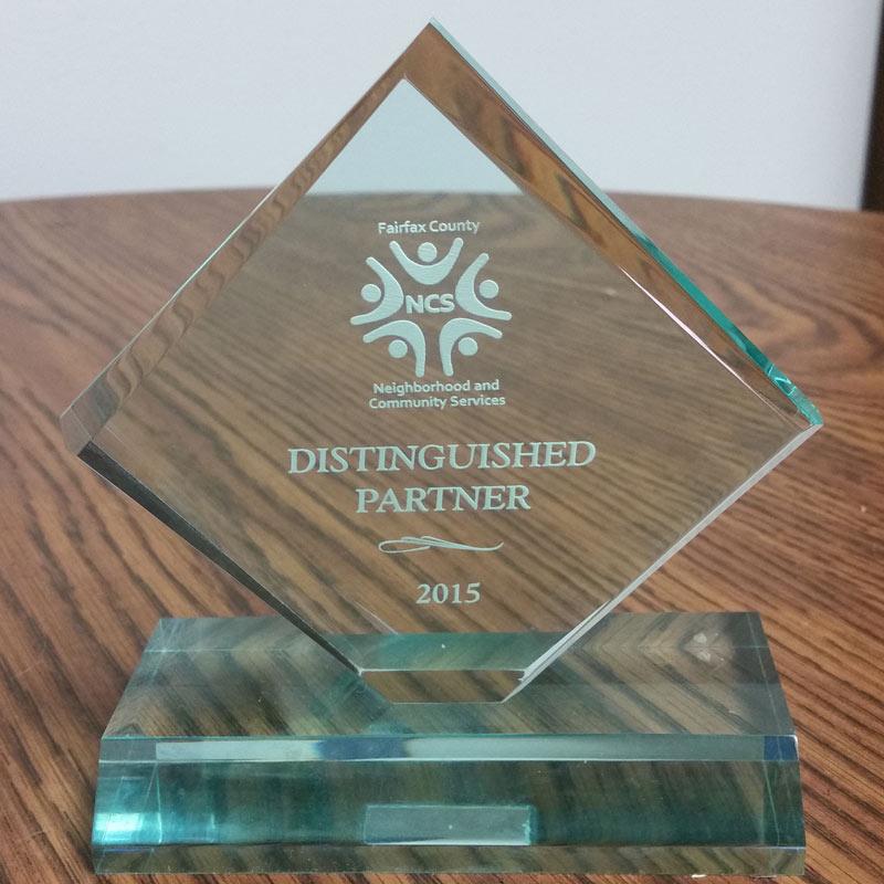 NVRC Receives Award from Fairfax County