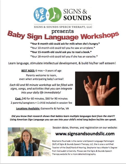 Signs & Sound – Baby Sign Language Workshop