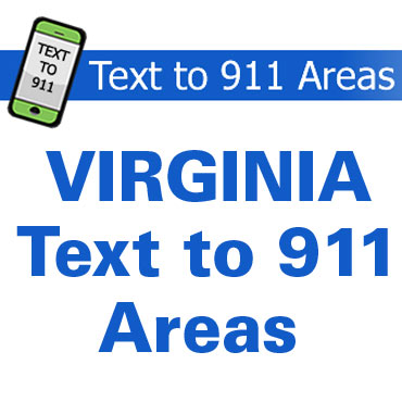 VDDHH publishing  Text to 911 Virginia area map