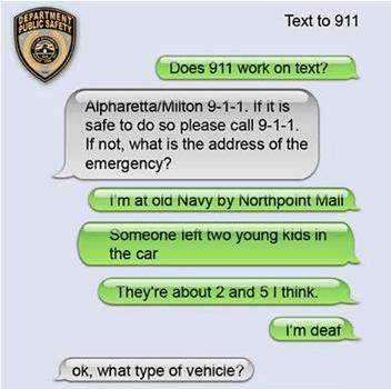 GA – Deaf woman texts local 911 – gets response