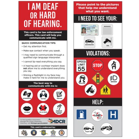 Cards assist law enforcement, drivers with hearing loss