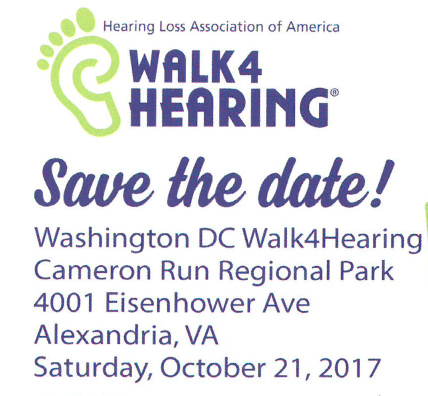 HLAA Walk4 Hearing – Saturday. October 21st