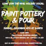 NVRC Paint Pottery & Pour -  December 10th at 2:00PM