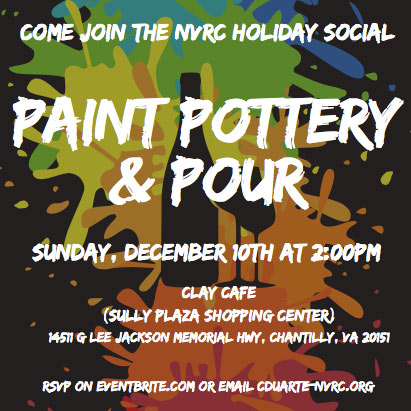 NVRC Paint Pottery & Pour –  December 10th at 2:00PM